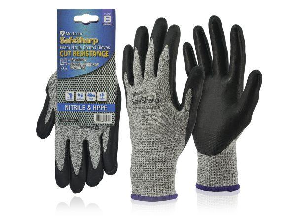 1153C,D,E_SafeSharp Cut Resistance Nitrile Glove