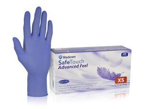 SafeTouch Advanced Feel Nitrile Examination Gloves Powder-Free_1199