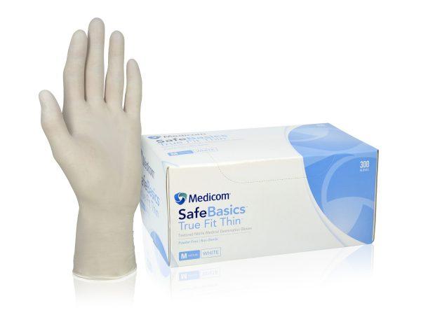 1184_SafeBasic True Fit Thin White Nitrile Glove